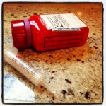 Pinterest comes in so handy... mark your Rx bottle with the correct amount of doses so you don't lose track!