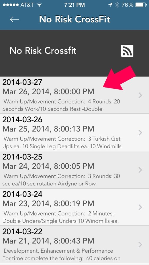 import feed.jpg 506x899 Using the MyWODs App to Track your CrossFit Workouts
