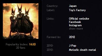 babymetal  Metal Storm Net