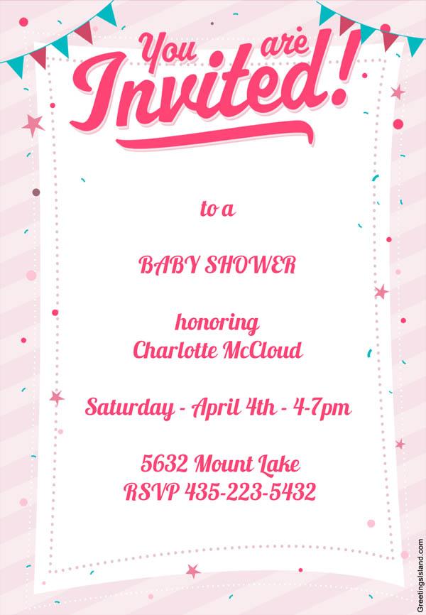 7 invitaciones de baby shower para imprimir gratis for Year end function program template