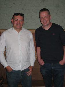 Eric Aries (left) and Ronny Conaert (right), both from the city of Geel, finalists of the September 4th Friday tournament. Congratulations to winner Ronny!