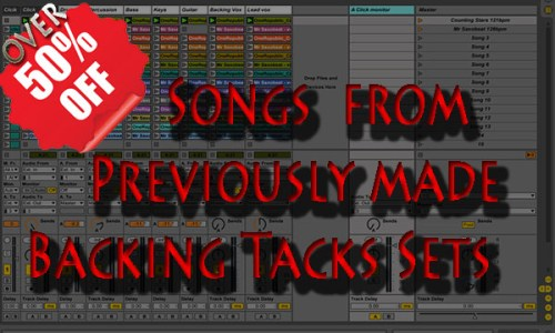 Songs from Previously made Backing Tacks Sets