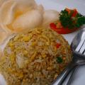 ジャカルタ・コタ駅付近のレストランにて。