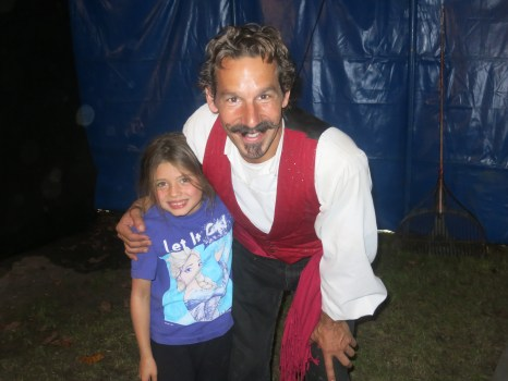 Erin and her circus camp instructor, Carlo.