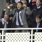 Zingarevich celebrates a Reading goal as Madejski (right) looks on.