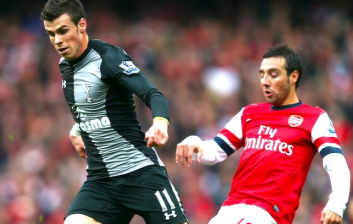 Bale Cazorla Arsenal Spurs