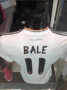 PIC: Gareth Bale Real Madrid shirts on sale in Gibraltar