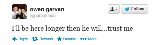 Owen Garvan tweet