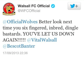 Walsall tweet
