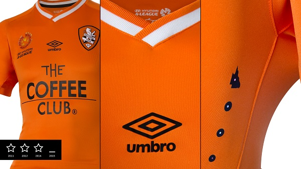 Brisbane Roar home kit 1