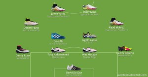 Pic: The PFA Team of the Year in football boots