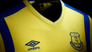 Pic: Everton reveal new yellow and blue third kit by Umbro