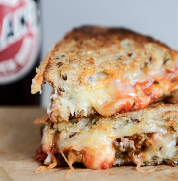 Spicy Meatball Grilled Cheese