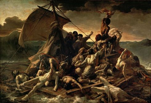 "Jean Louis Théodore Géricault, ""The Raft of the Medusa"" 1818, via Wikimedia Commons"
