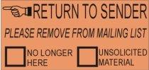 junk mail return to sender