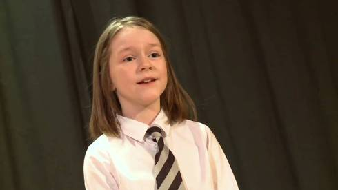 Hear the winner of the William Law Memorial Trophy from Calderwood Primary performs 'To a Louse'.