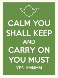 calm yoda