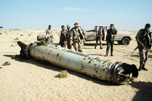 SCUD shot down by Patriot missile.  Richard's not in this picture.  But this is what he did for the Army.
