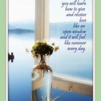 Sunday Sweetness--An Open Window