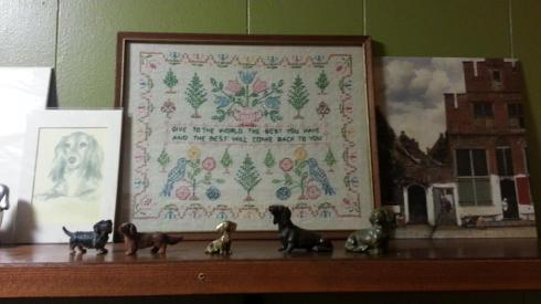 Grandmama Eunice's baby sister, my Aunt Mary Fuller. left this sampler.  She was a sweet lady.
