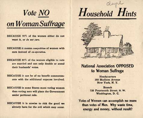 It's just so much TROUBLE to give women the vote. Why bother?