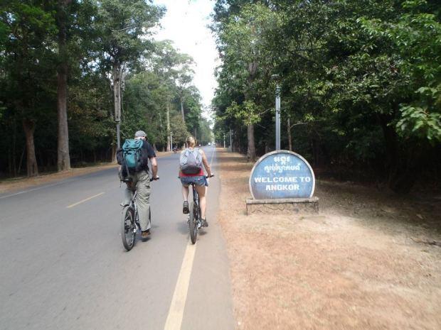 Biking around Angkor