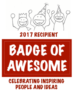 badge of awesome 2017 - vertical