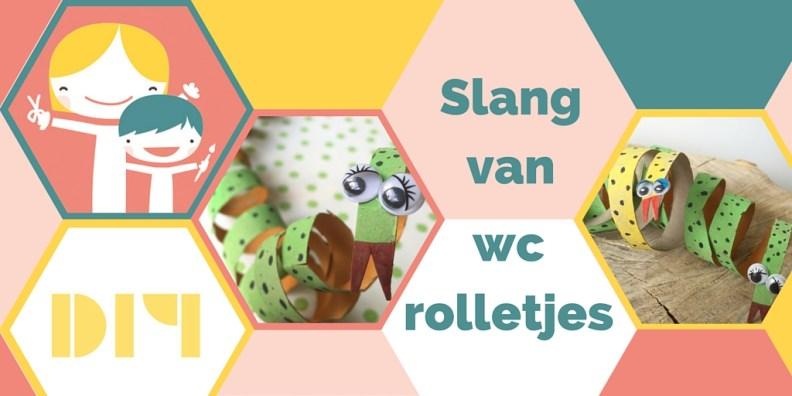 Maak een slang van een wc rolletje - deel 2 van je dierentuin