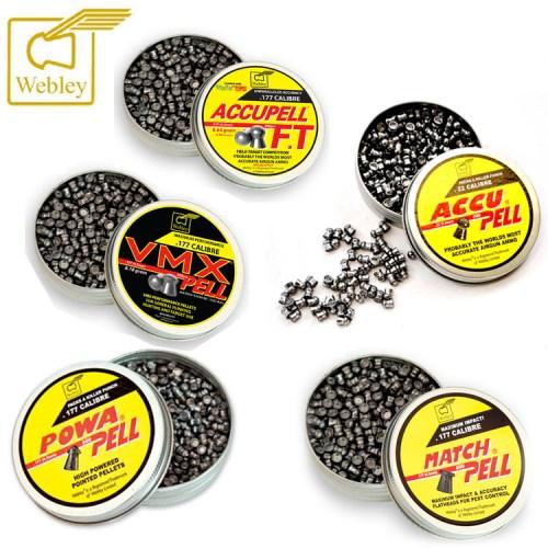Webley pellets collection
