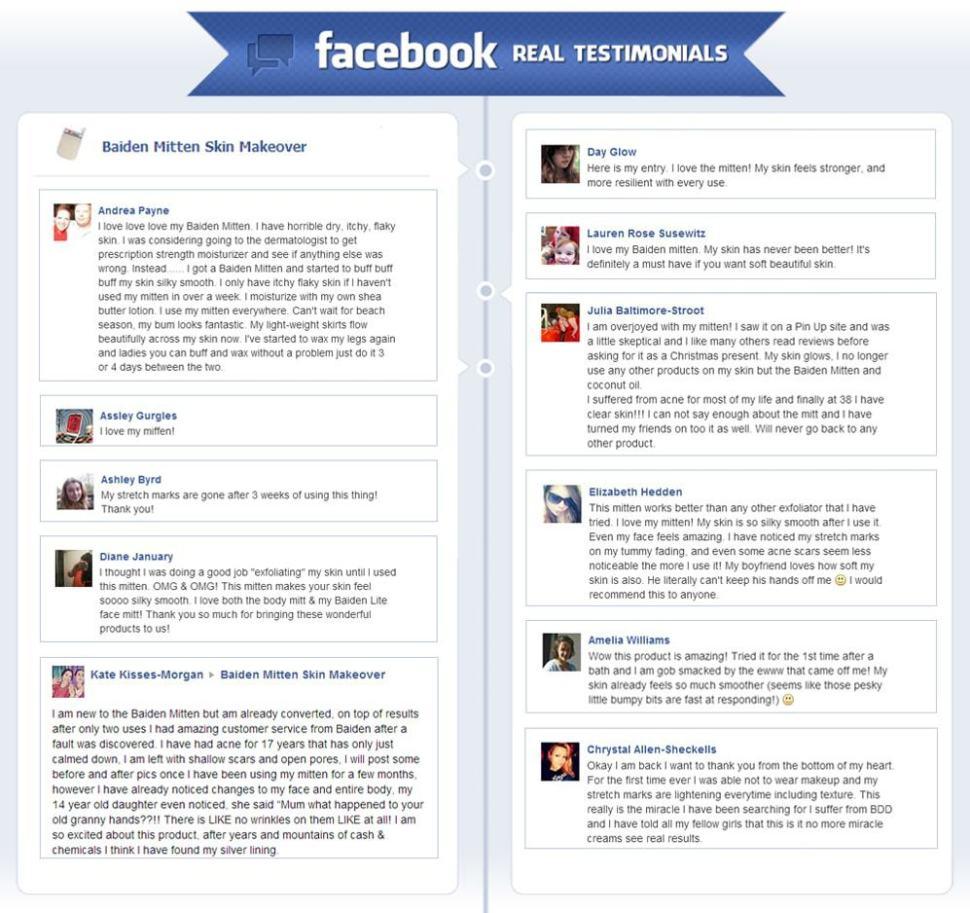 Baiden Mitten Real Facebook Testimonials1