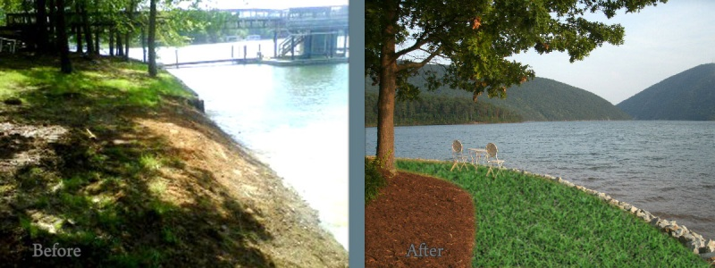 Smith Mountain Lake builder before and after 17
