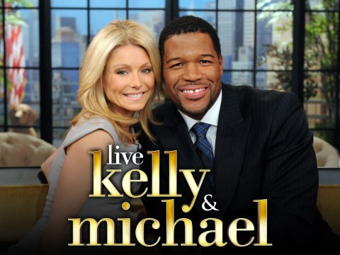 LIVE WITH KELLY - Michael Strahan is Kelly's co-host on LIVE WITH KELLY, 2/8/11, airing in more than 200 markets across the country and distributed by Disney-ABC Domestic Television. (Disney-ABC Domestic TV/Sandy SooHoo)