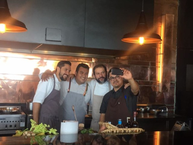 Chef Branch, Mixologist Vazquez, Chef Olvera and Chef Salgado