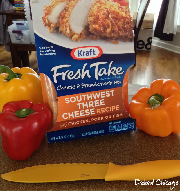 KRAFT #FreshTake #CollectiveBias mise en place for stuffed peppers