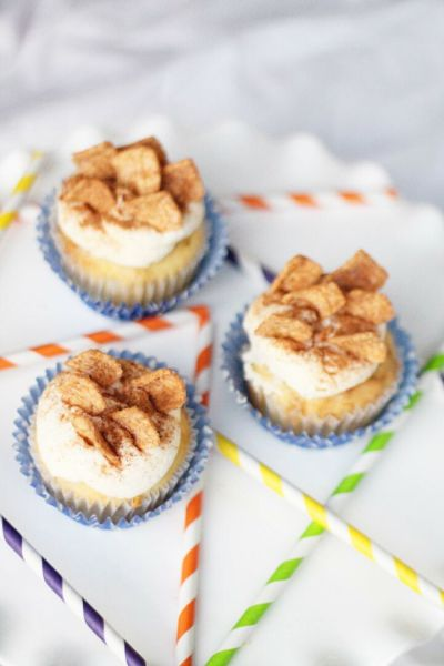 Cinnamon Toast Crunch Cupcakes with Bourbon Vanilla Buttercream