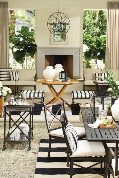 Fabulous Outdoor Fireplaces