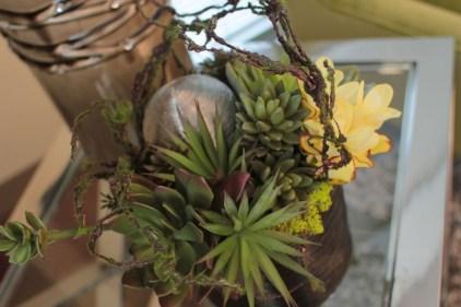 succulent silver metal mixed floral