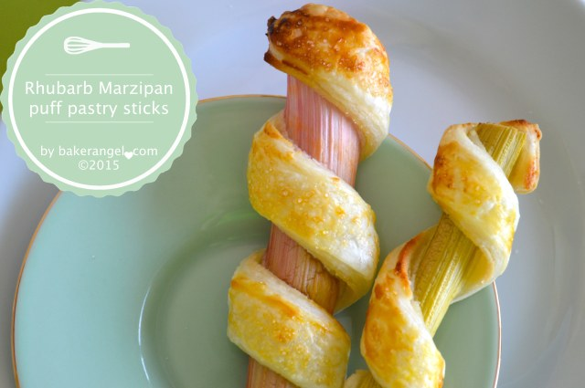 Rhubarb Marzipan Puff Pastry Sticks by bakerangel.com
