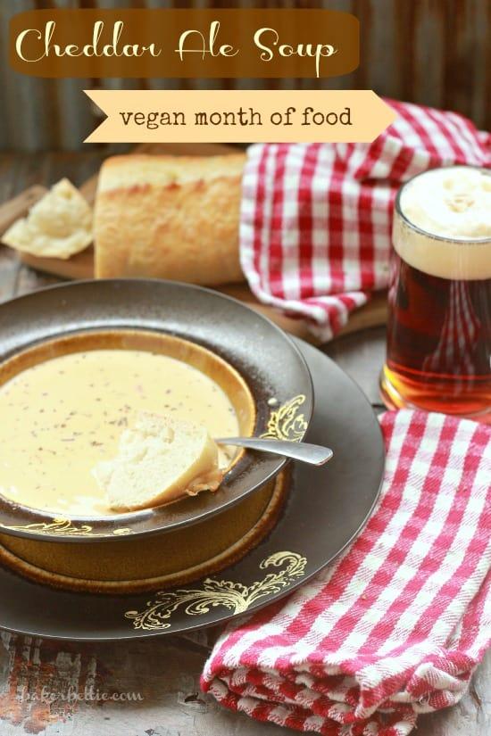 Vegan Cheddar Ale Soup