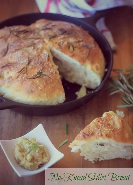 No-Knead Skillet Bread