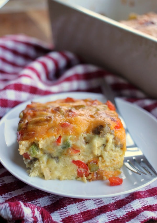 Sausage Egg and Cheese Casserole- Baker Bettie