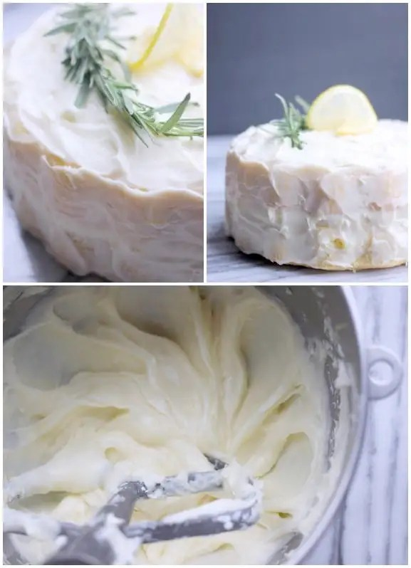 Fluffy Lemon-Rosemary Layer Cake with Lemon Cream Cheese Frosting- Baker Bettie