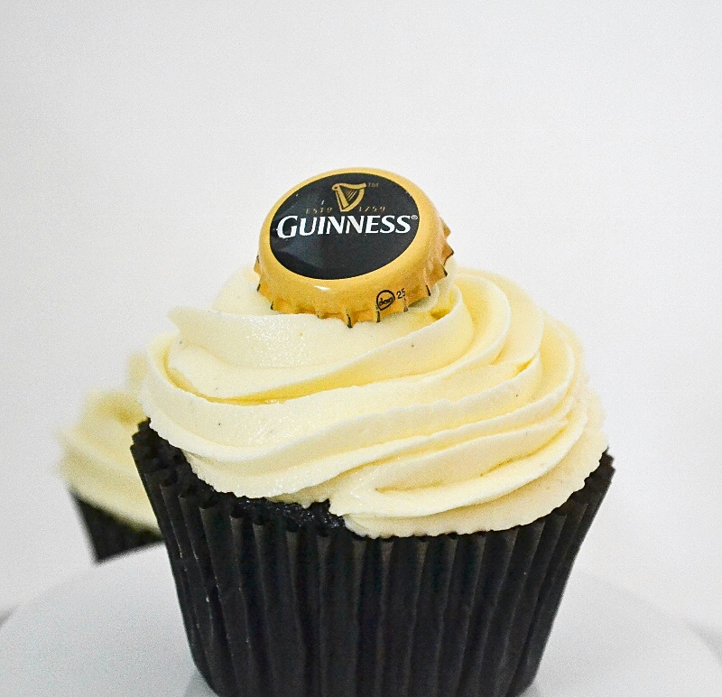 Rich, decadent Chocolate Guinness Cupcakes frosted with whipped ...