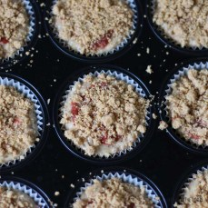 Roasted Plum Hazelnut Streusel Muffins | Bake to the roots