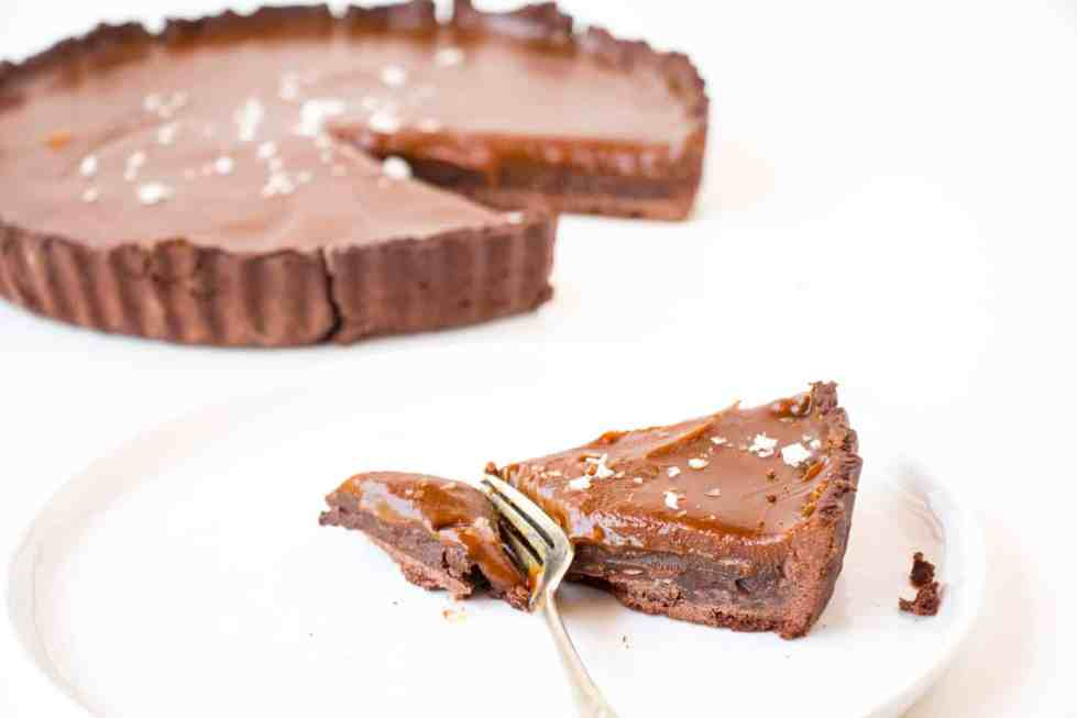 Salted Caramel Chocolate Tart - Baking-Ginger