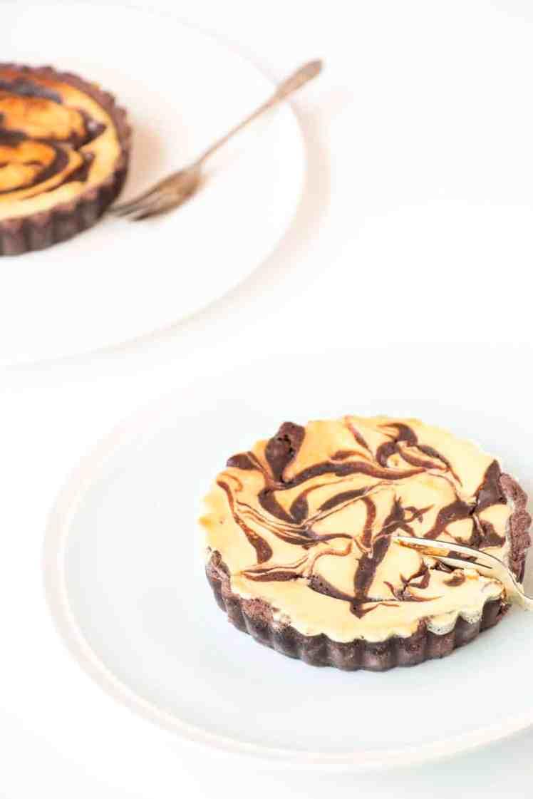 Chocolate Cheesecake Tartlets - Baking-Ginger