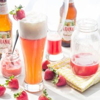 Strawberry Rhubarb Shandy