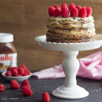 Nutella Crepe Cake, & a Giveaway