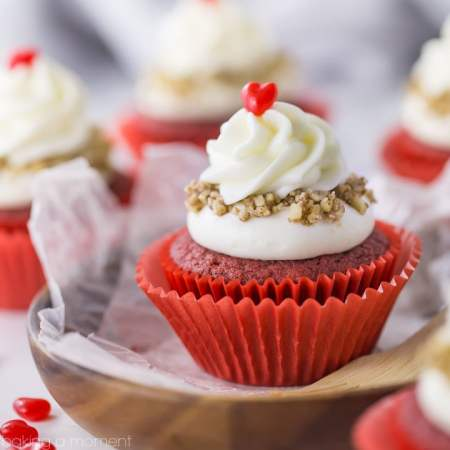 Best Red Velvet Cupcake recipe I've tried! Nice and moist, the flavor was spot-on, and they were pretty simple to make.
