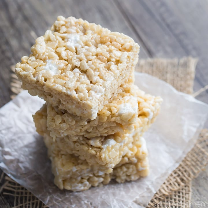 Simply Perfect Rice Krispie Treats- these are EXTRA gooey and EXTRA buttery! They took me straight back to my childhood!